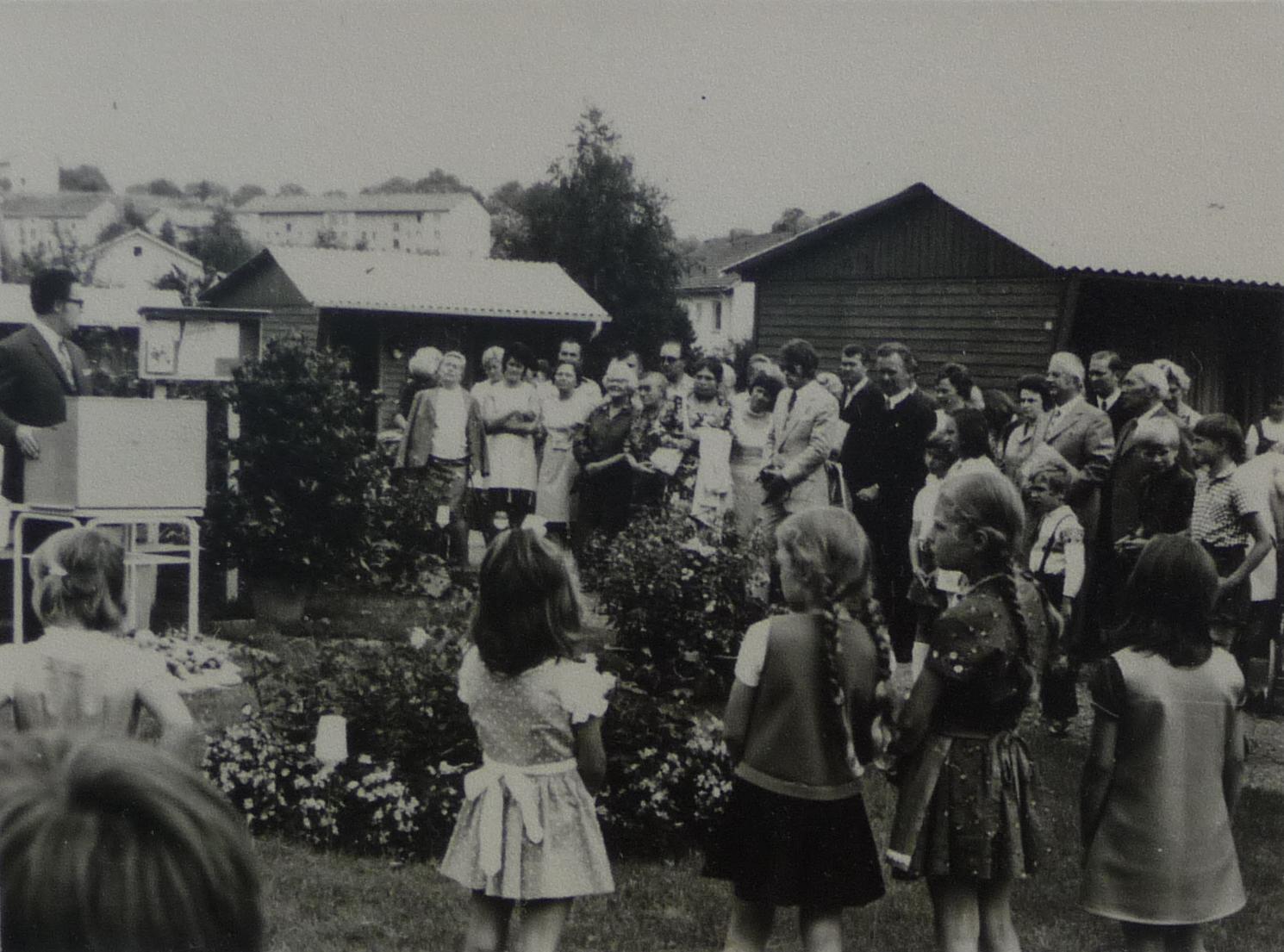 Einweihung Steinrinnenösch 1971